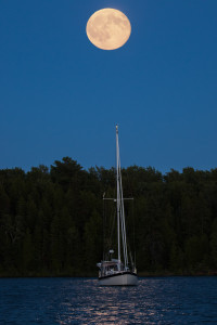 Blue moon sailboat
