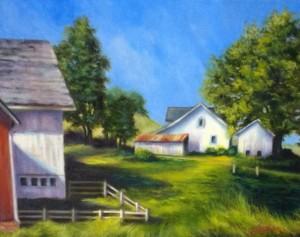 "Summer Solstice, Linda Linham 1st Place PaintingOil, 14""x 11"", $250"